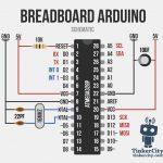 Breadboard Arduino Wiring Schematic   Arduino En 2019   Arduino   Arduino Wiring Diagram