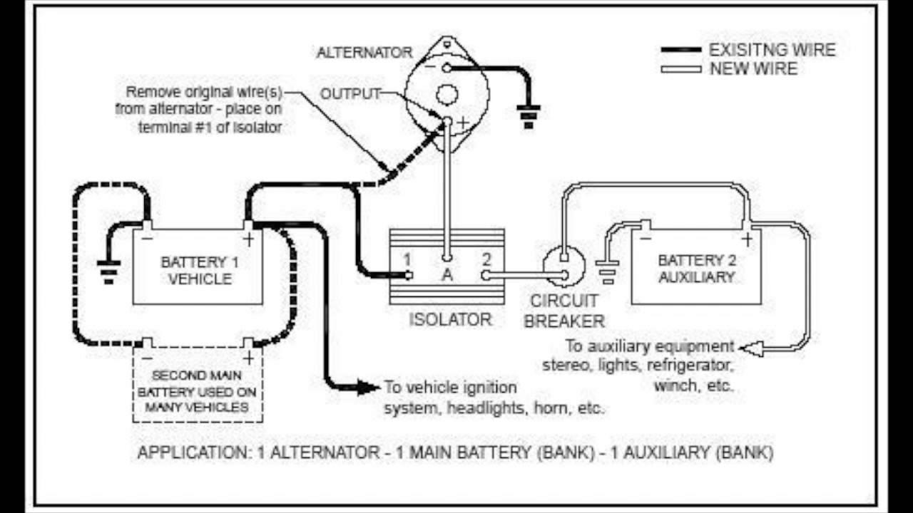 Canadian Energy™ - Battery Isolator : 101 - Youtube - 12V Battery Isolator Wiring Diagram
