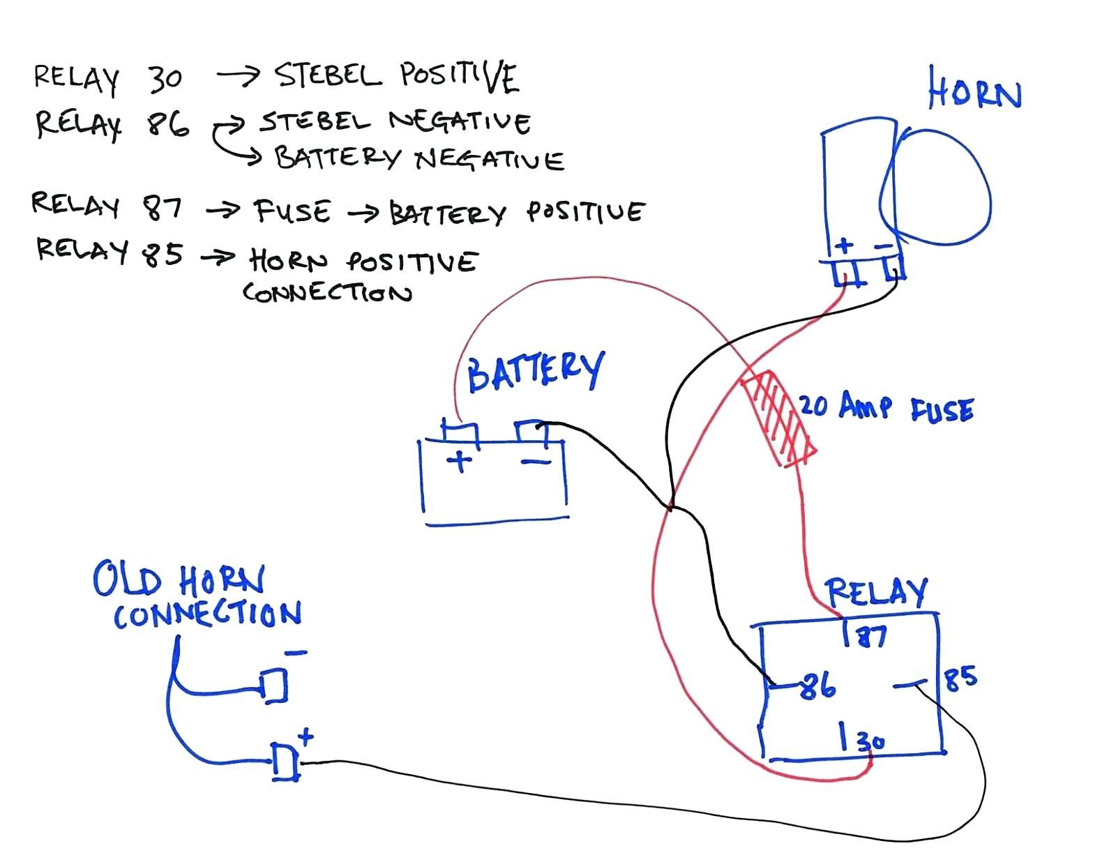 Car Horn Wiring Diagram - Lorestan - Car Horn Wiring Diagram