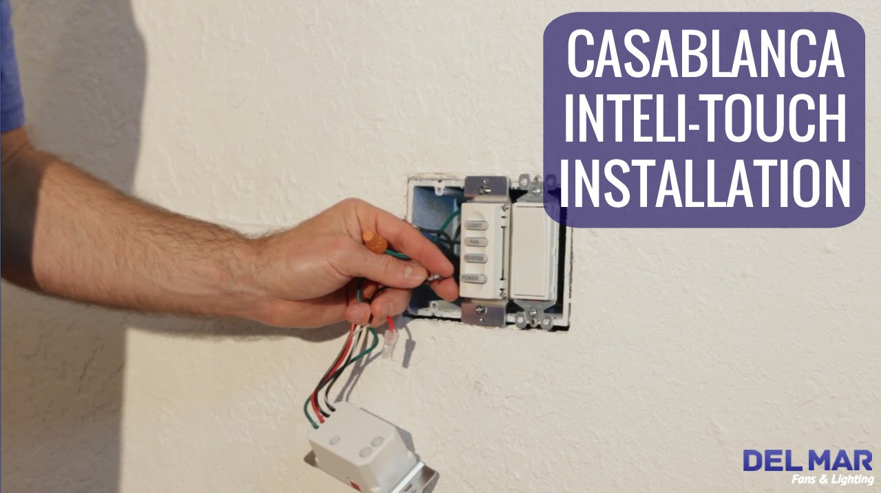 Casablanca Inteli-Touch Wall Control Installation - Youtube - Ceiling Fan Wall Switch Wiring Diagram