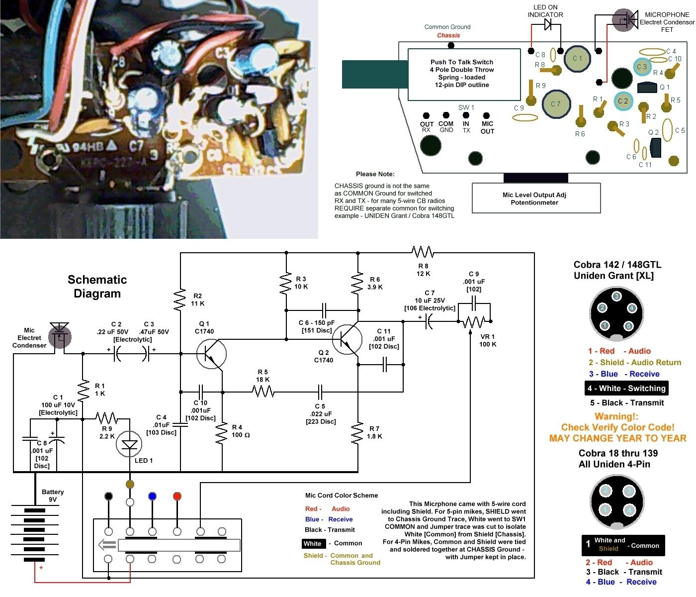 Cb Mic Wiring Diagrams : 22 Wiring Diagram Images - Wiring Diagrams - 4 Pin Cb Mic Wiring Diagram