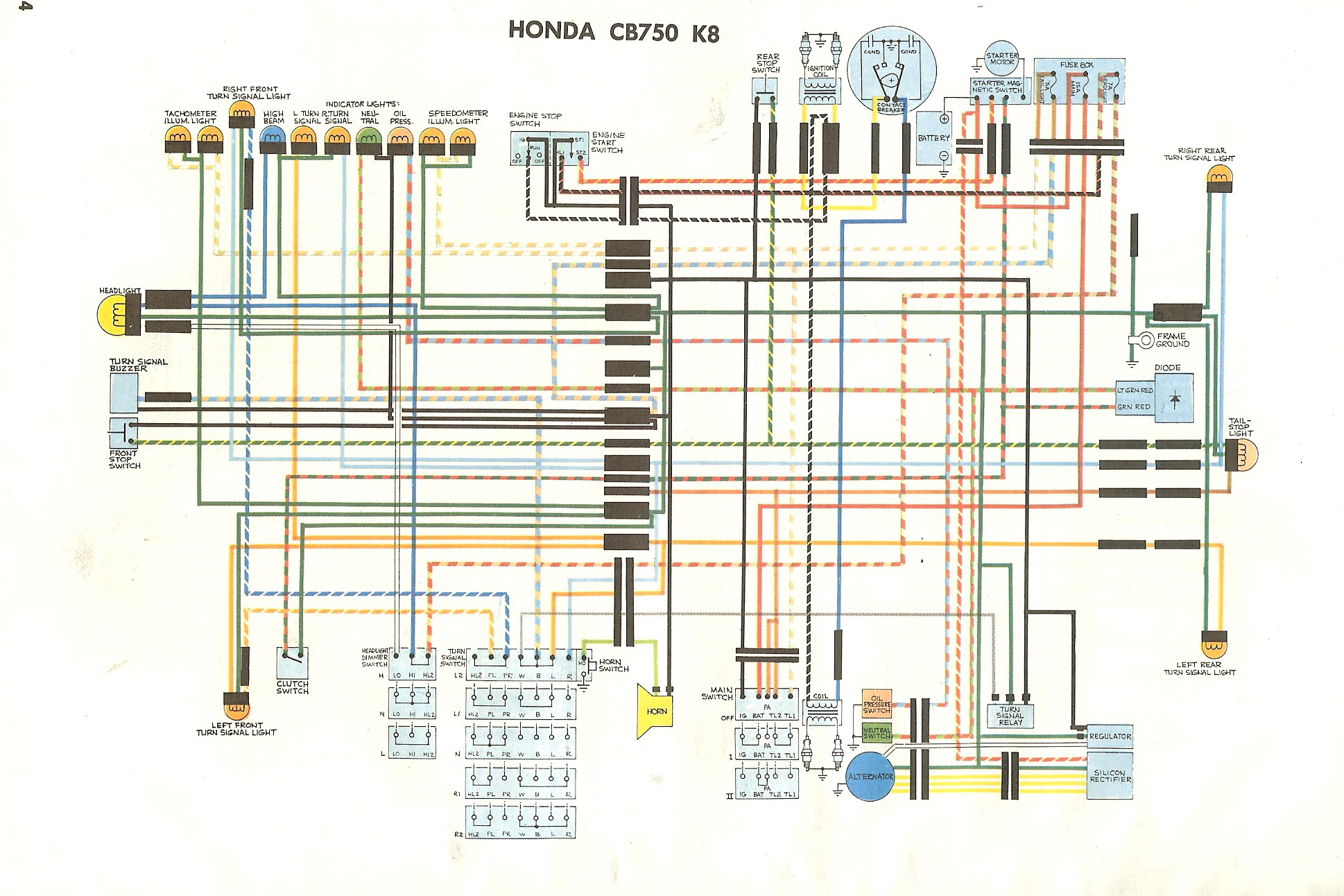 Cb750K - Cb750 Wiring Diagram