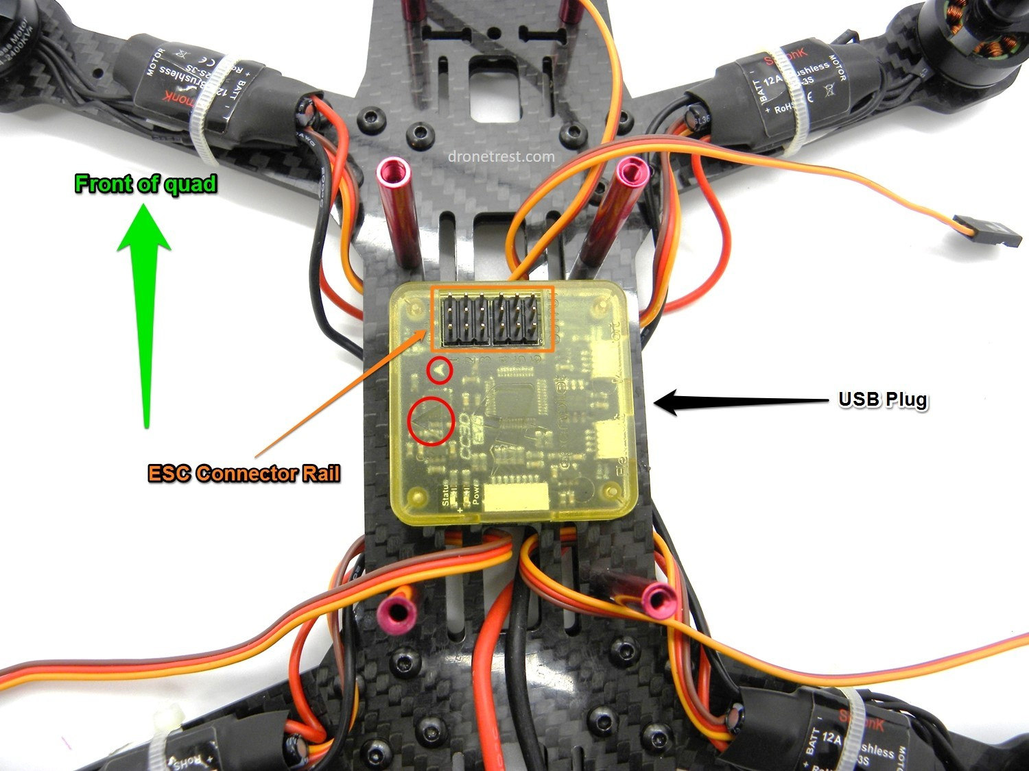 Cc3D Wiring Diagram Quad Copter | Manual E-Books - Cc3D Wiring Diagram