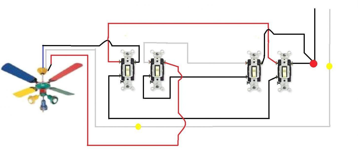 Ceiling Fan 3 Way Switch Wiring Diagram | Manual E-Books - Ceiling Fan 3 Way Switch Wiring Diagram