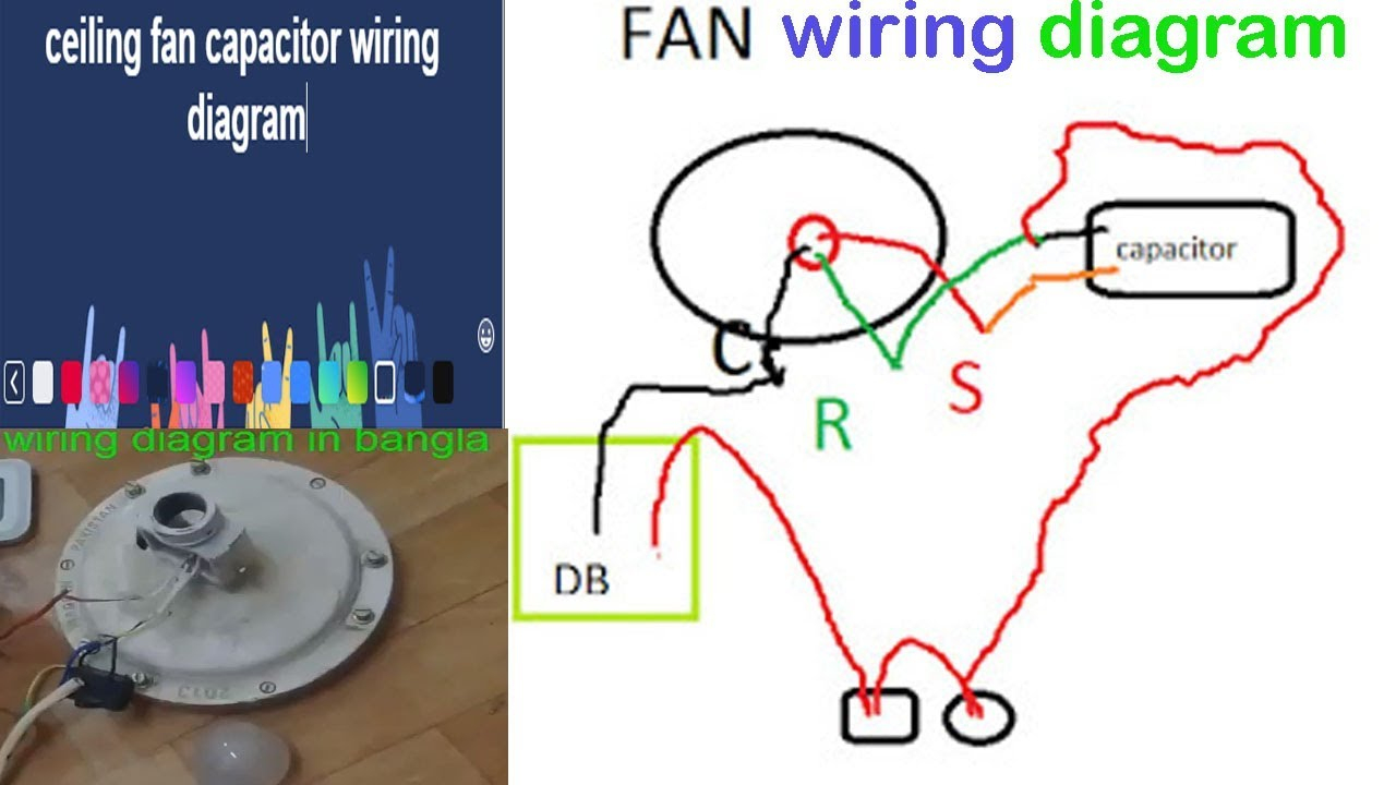 Ceiling Fan Capacitor Wiring Diagram - Wiring Diagrams Hubs - Ceiling Fan Wiring Diagram
