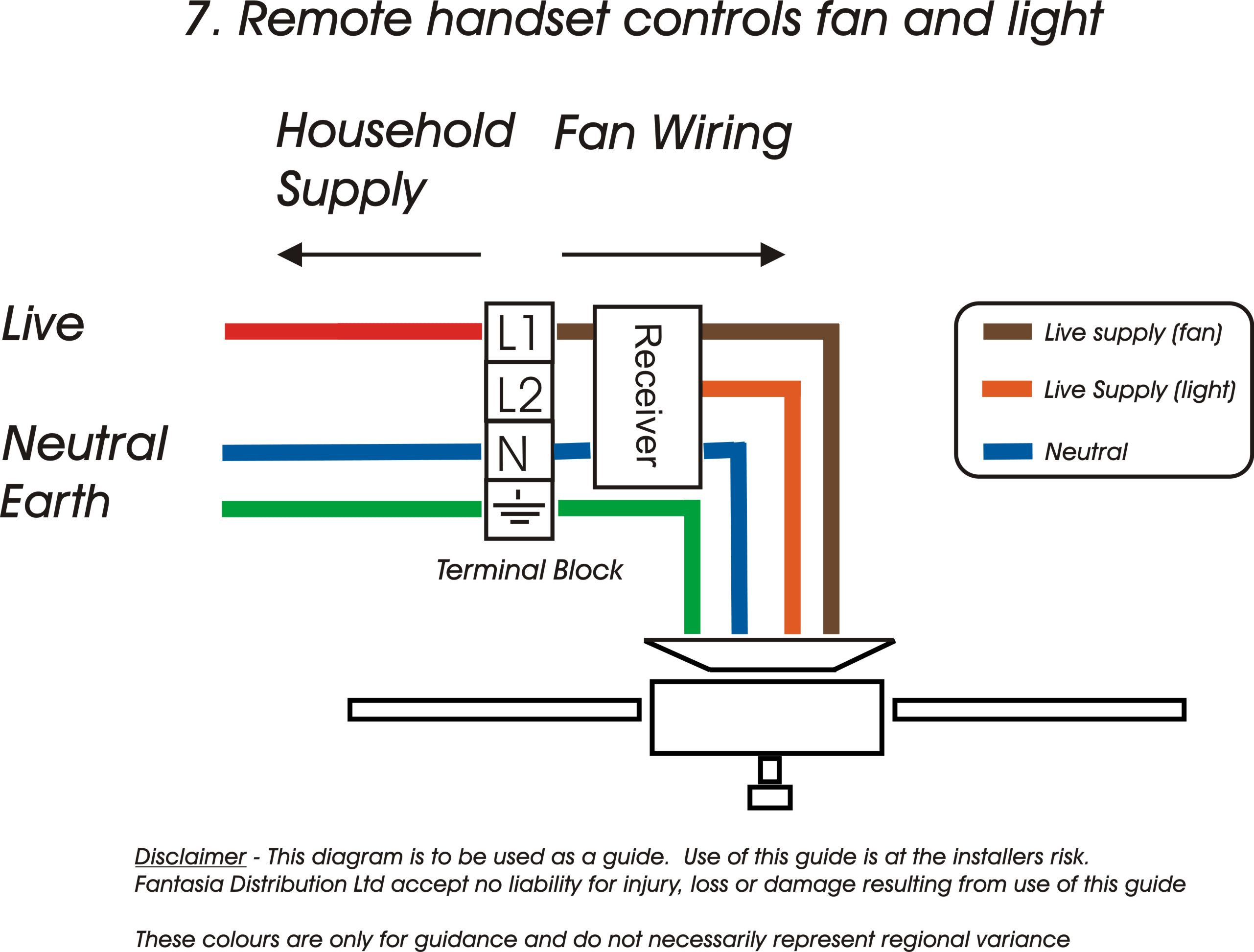 Ceiling Fan Wiring Diagram Capacitor A With 4 Wires Two Switches How - Fan Wiring Diagram