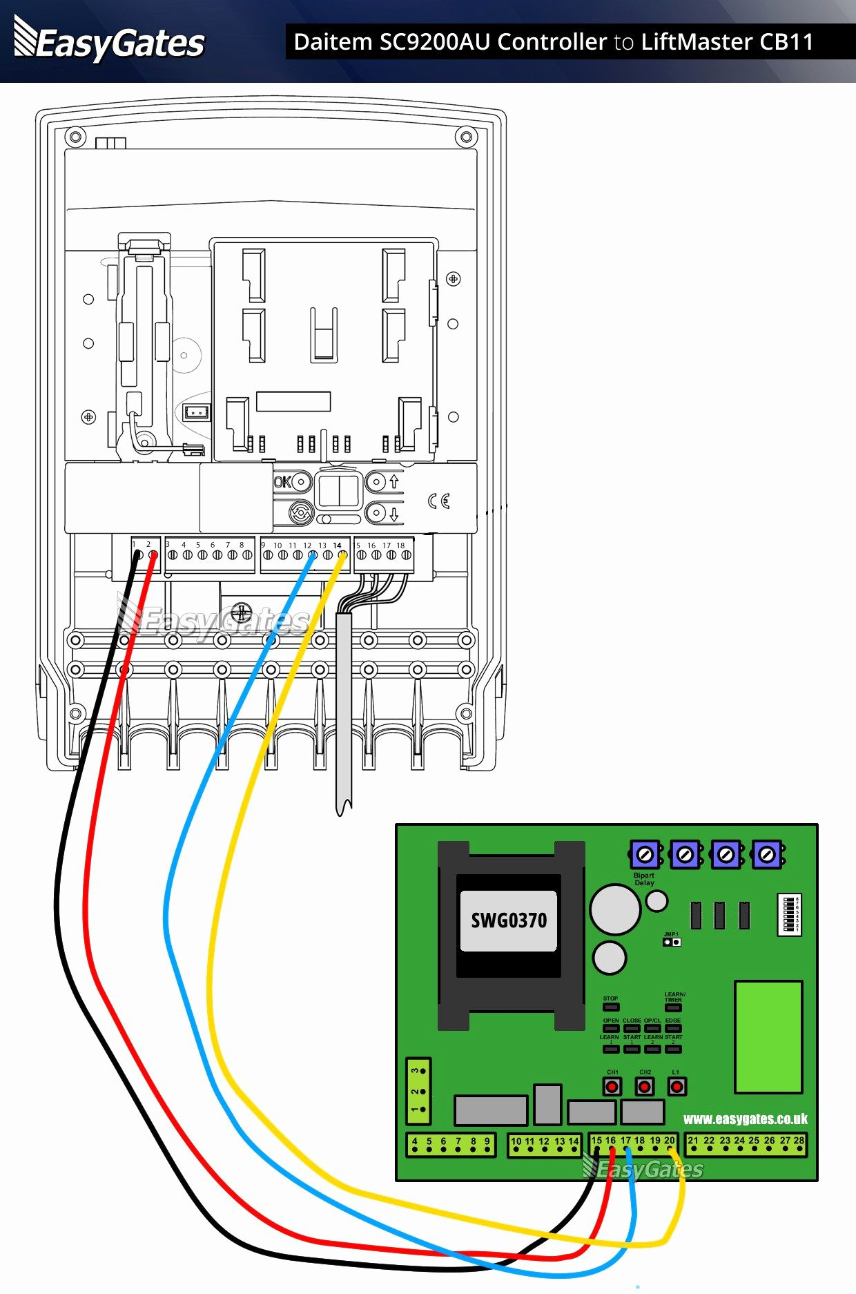 Chamberlain Whisper Drive Garage Door Opener Wiring Diagram | Manual - Chamberlain Garage Door Sensor Wiring Diagram