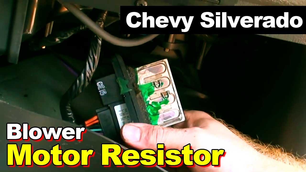 Chevrolet Silverado Blower Motor Speed Control Resistor - Youtube - 2005 Chevy Silverado Blower Motor Resistor Wiring Diagram