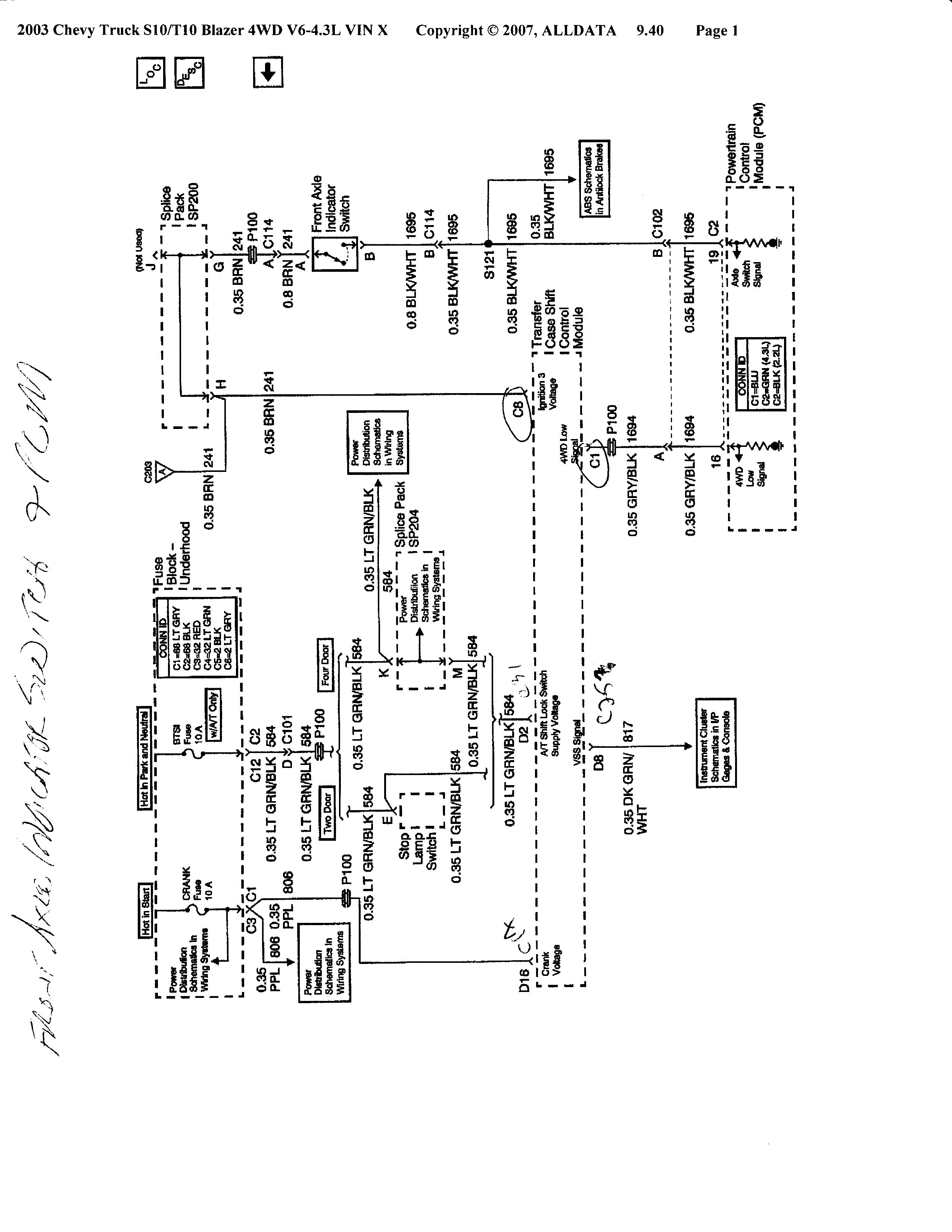 Diagram Chevy 4wd Actuator Upgrade Wiring Diagram