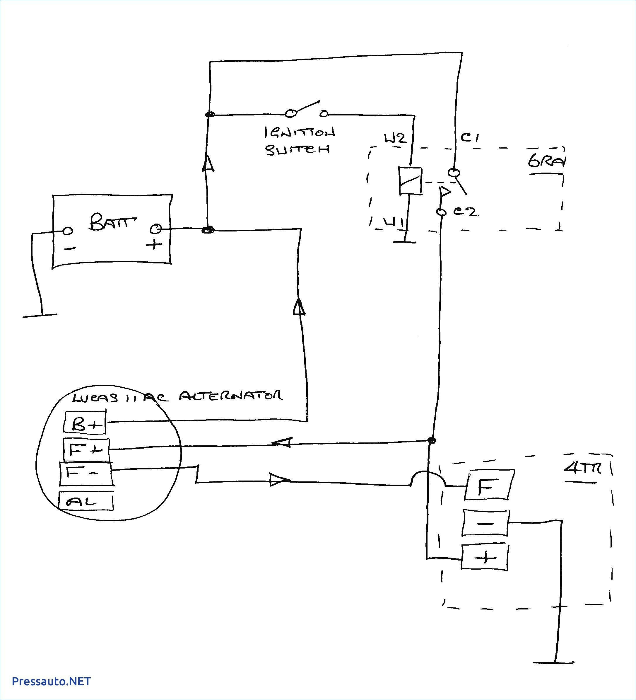 Chevy One Wire Alternator Diagram Electrical Circuit 3 Wire - Ford Alternator Wiring Diagram