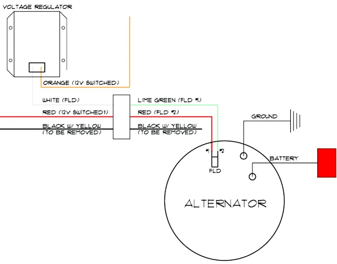 Chevy One Wire Alternator Wiring - Wiring Diagram Detailed - One Wire Alternator Wiring Diagram Ford