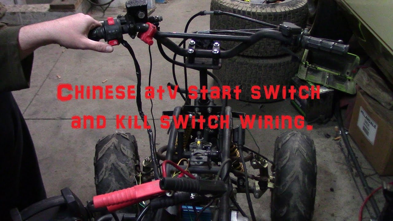 Chinese Atv Start Button And Kill Switch Wiring. - Youtube - Atv Starter Solenoid Wiring Diagram