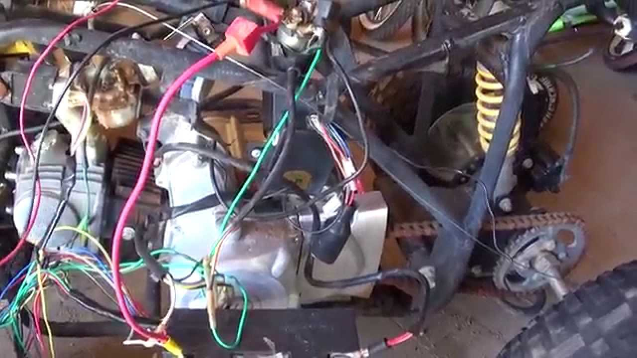 Chinese Quad 110 Cc Wiring Nightmare - Youtube - Chinese Atv Wiring Diagram