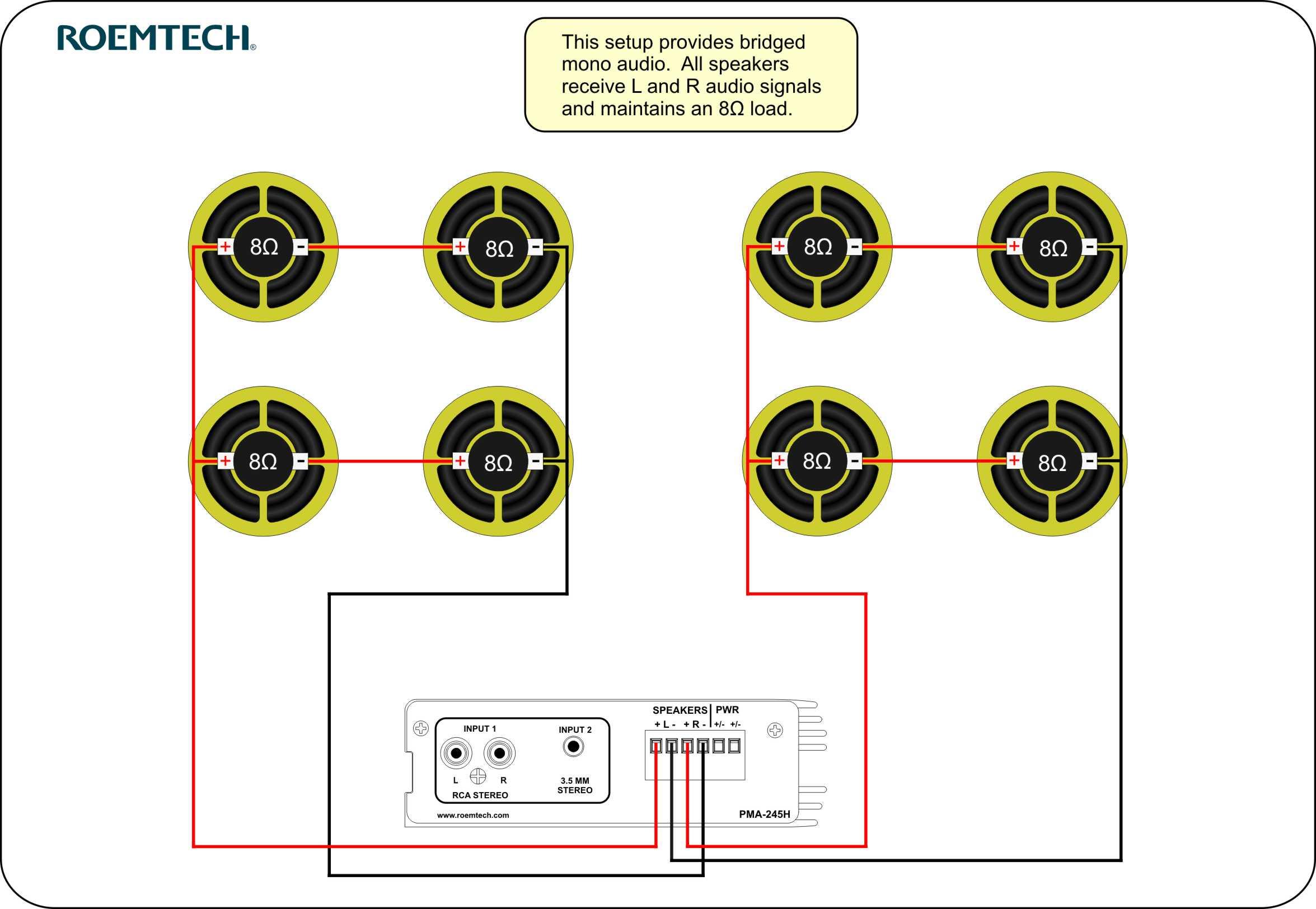 Classroom Audio Systems - Multiple Speaker Wiring Diagram - Speaker Wiring Diagram