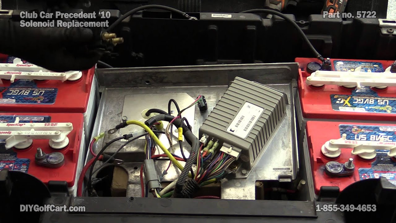 Club Car Precedent 48 Volt Solenoid | How To Replace On Golf Cart - 2008 Club Car Precedent Wiring Diagram