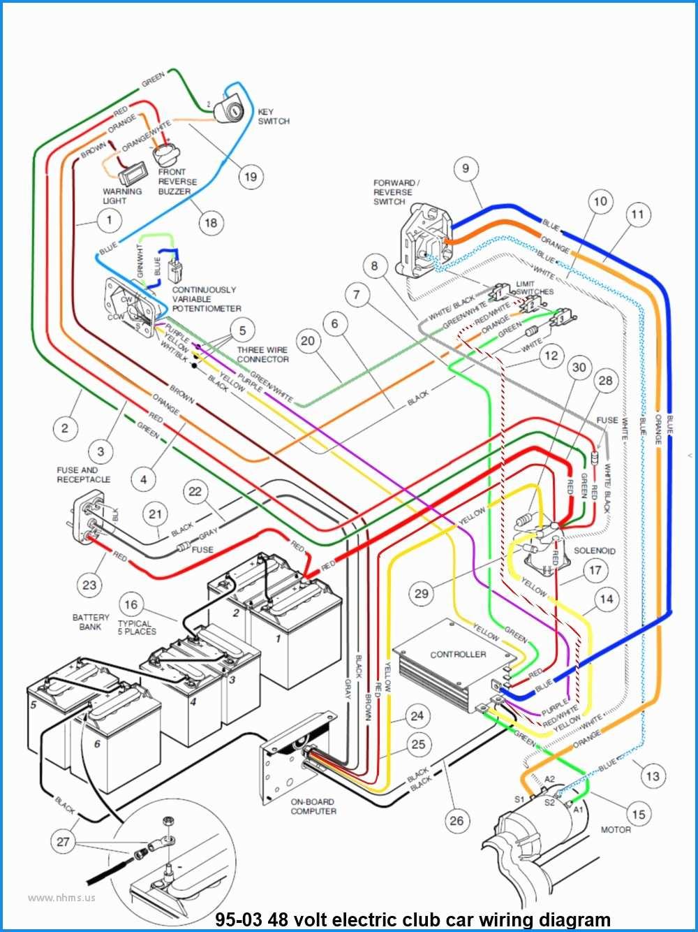 Club Golf Cart Fuse Diagram - Wiring Diagram Detailed - Ez Go Golf Cart Battery Wiring Diagram