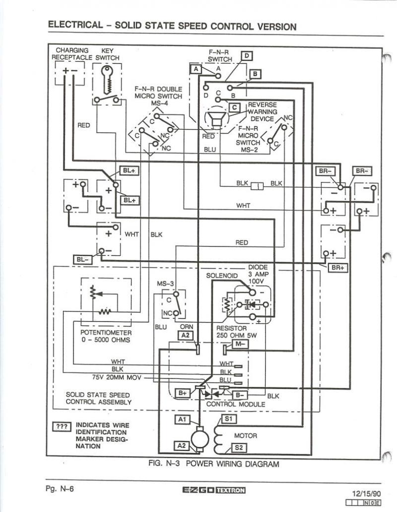 Collection Of 36 Volt Ez Go Golf Cart Wiring Diagram Sample - Ez Go Wiring Diagram 36 Volt