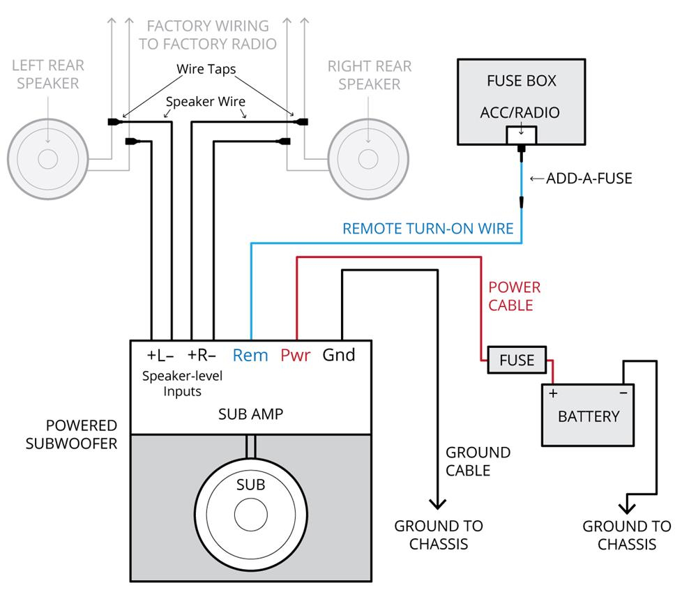 Component Speakers 4 Channel Amp Wiring Diagram | Wiring Diagram - 6 Speakers 4 Channel Amp Wiring Diagram
