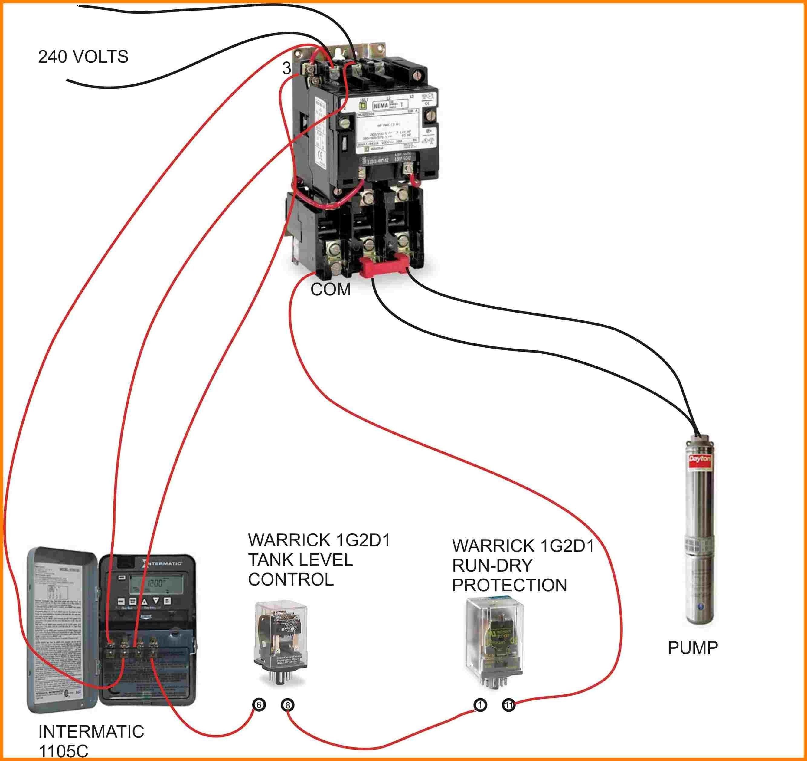 Compressor Contactor Wiring - Wiring Diagram Detailed - 240 Volt Contactor Wiring Diagram