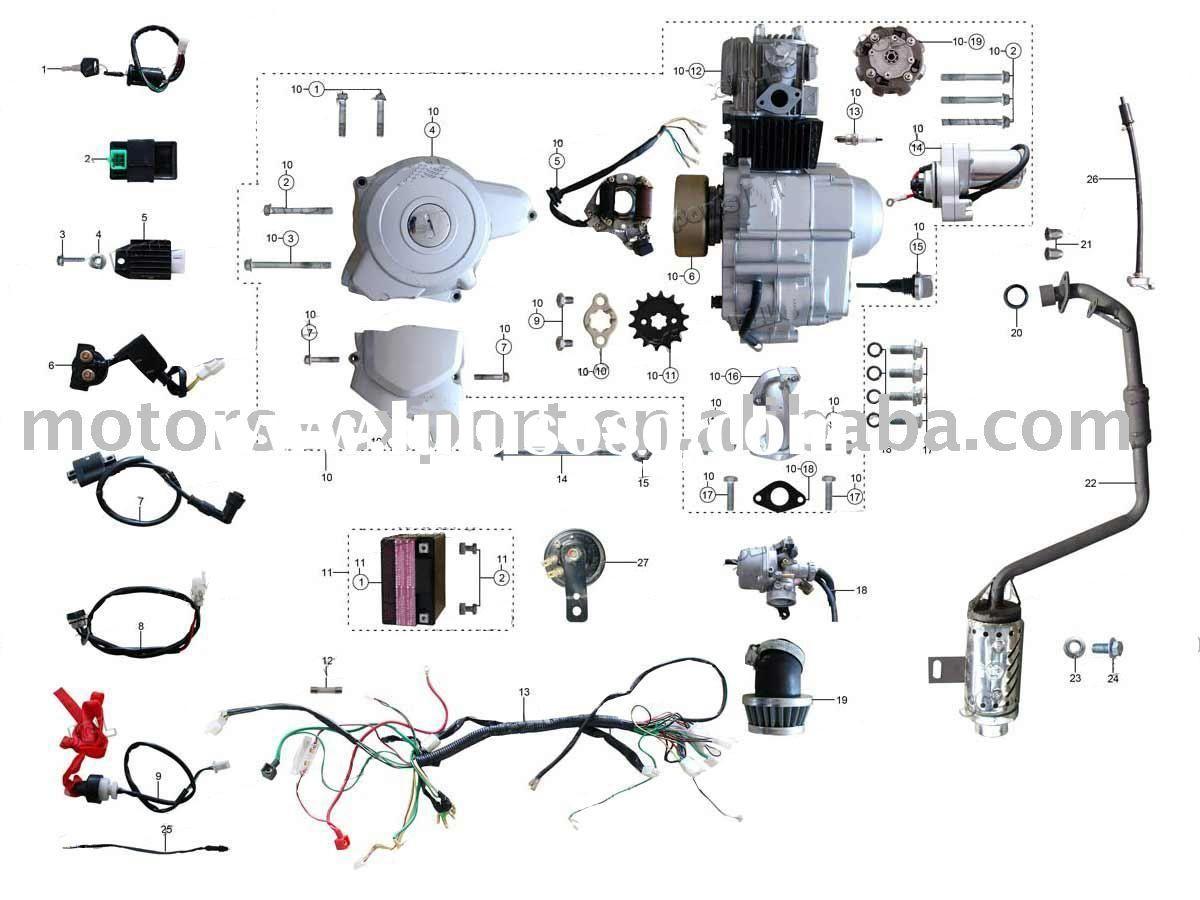 Coolster 110Cc Atv Parts Furthermore 110Cc Pit Bike Engine Diagram - 110Cc Chinese Atv Wiring Diagram