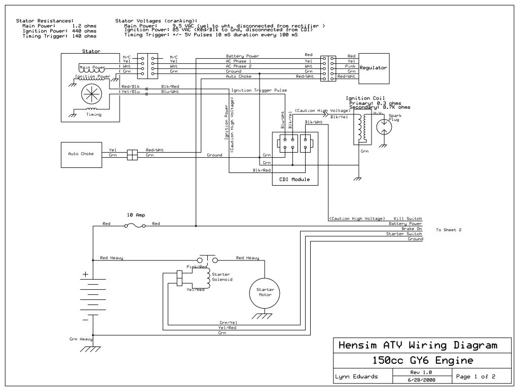 Coolster 150Cc Atv Wiring Diagram | Schematic Diagram - Gy6 150Cc Wiring Diagram