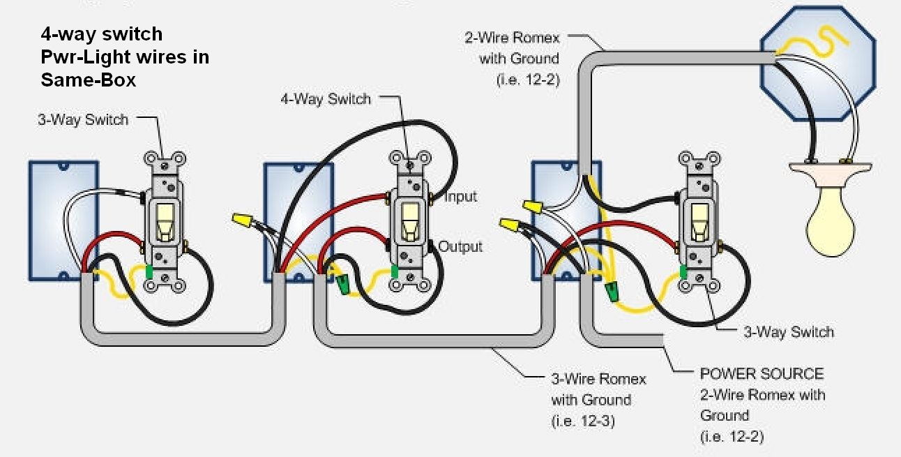 Cooper 4 Way Switch Wiring Diagram For | Switches | Pinterest - 3 Way Switch Wiring Diagram Power At Light