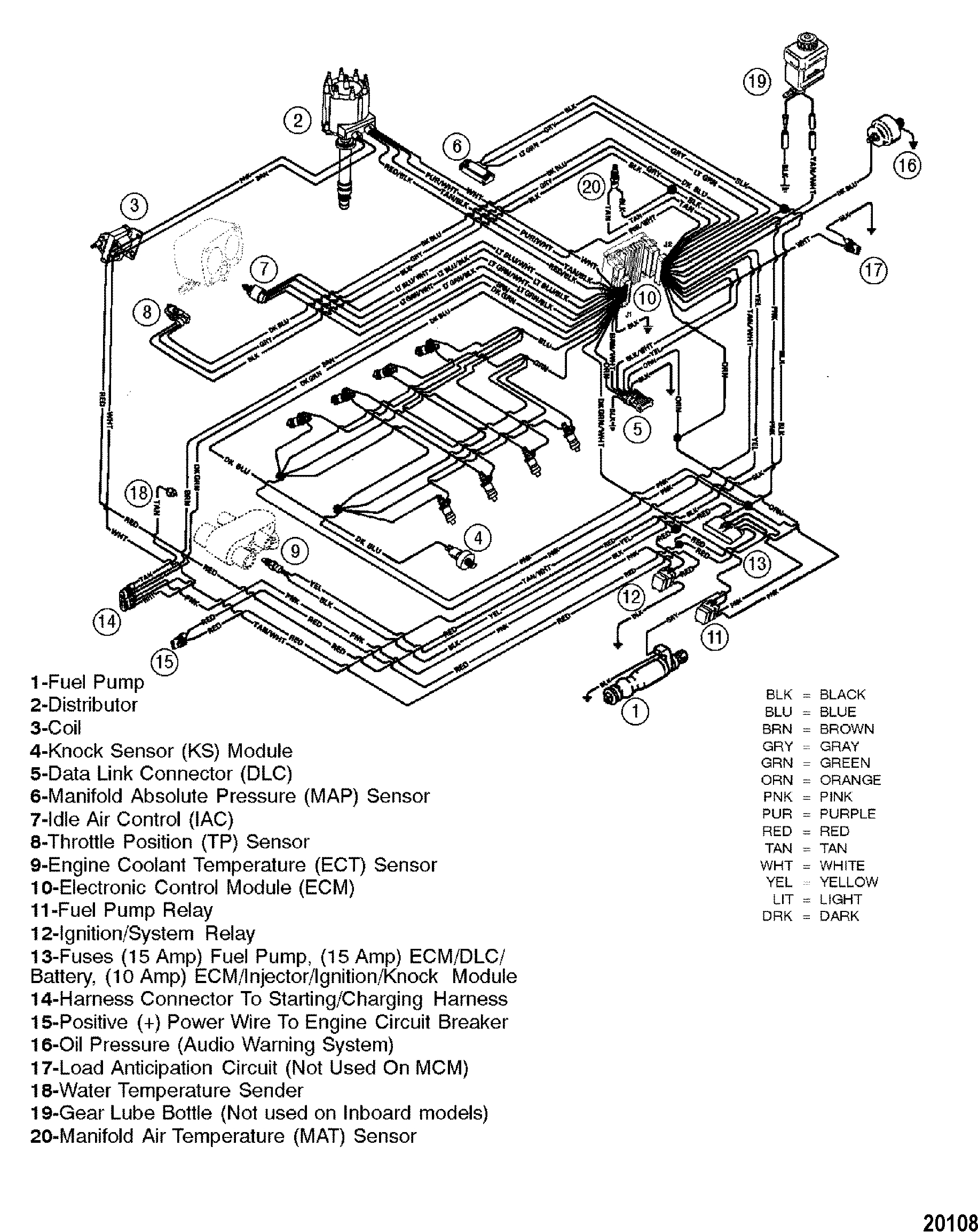 Cp Performance - Wiring Harness (Efi) - Mercruiser Wiring Diagram