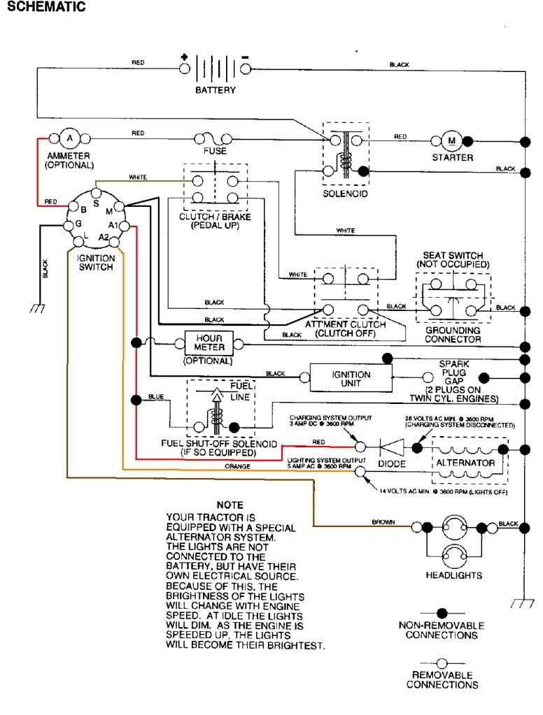 Craftsman Lt2000 Wiring Diagram #2 | Wiring Diagrams | Craftsman - Craftsman Lt2000 Wiring Diagram
