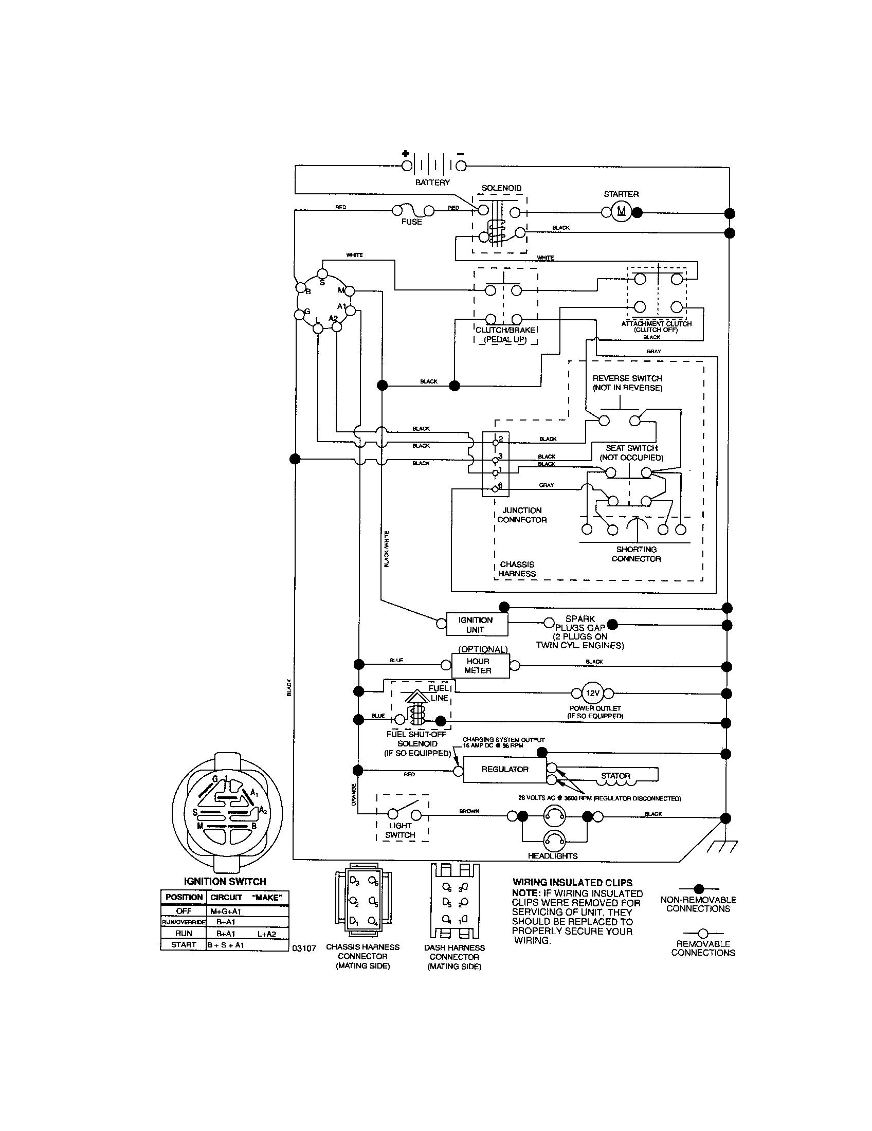 Craftsman Riding Mower Electrical Diagram | Wiring Diagram Craftsman - Wiring Diagram For Craftsman Riding Lawn Mower
