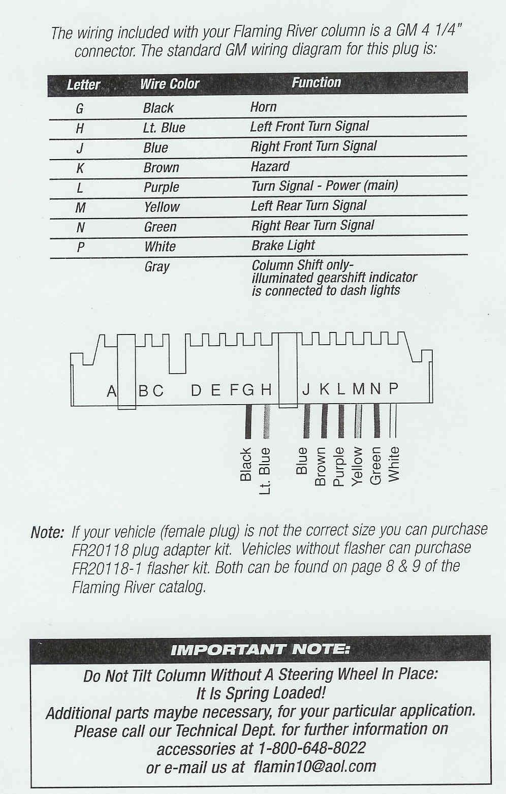 Custom Wiring Diagram - Chevy Steering Column Wiring Diagram