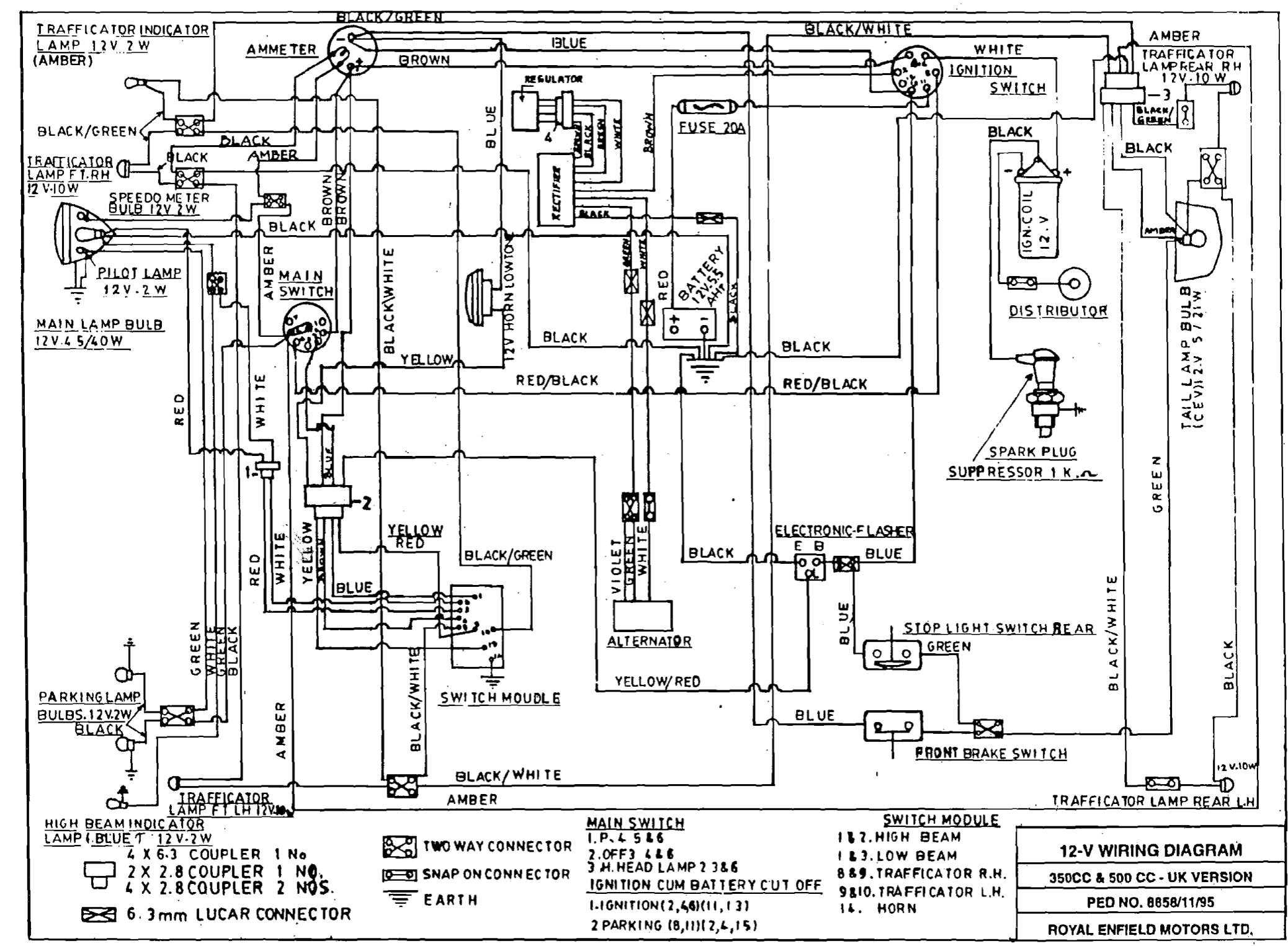 "Dan's Motorcycle ""various Wiring Systems And Diagrams"" - 12 Volt Wiring Diagram"