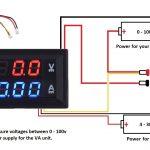 Dc 100V 10A Voltmeter Ammeter Blue + Red Led Amp Dual Digital Volt   Digital Volt Amp Meter Wiring Diagram