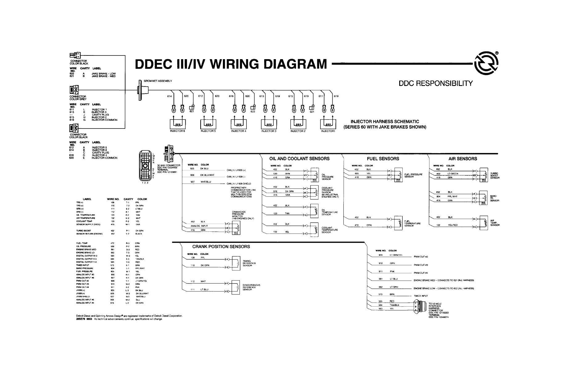 Ddec Iv Wiring Diagram. Detroit Diesel Series 60 Diagram, Bar - Detroit Series 60 Ecm Wiring Diagram