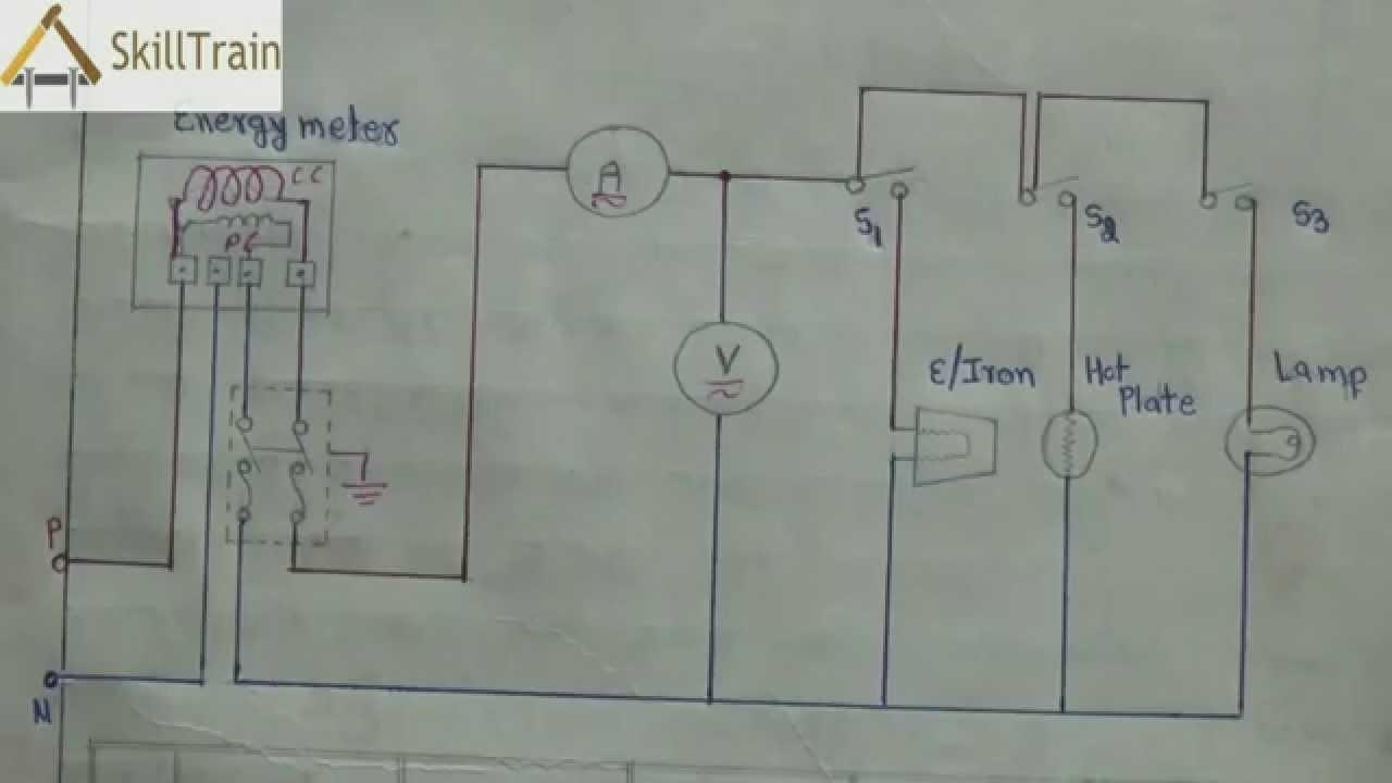 Diagammatic Representation Of Simple House Wiring (Hindi - Basic House Wiring Diagram