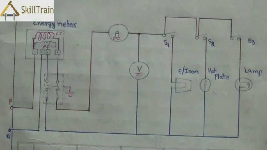 Diagammatic Representation Of Simple House Wiring  Hindi