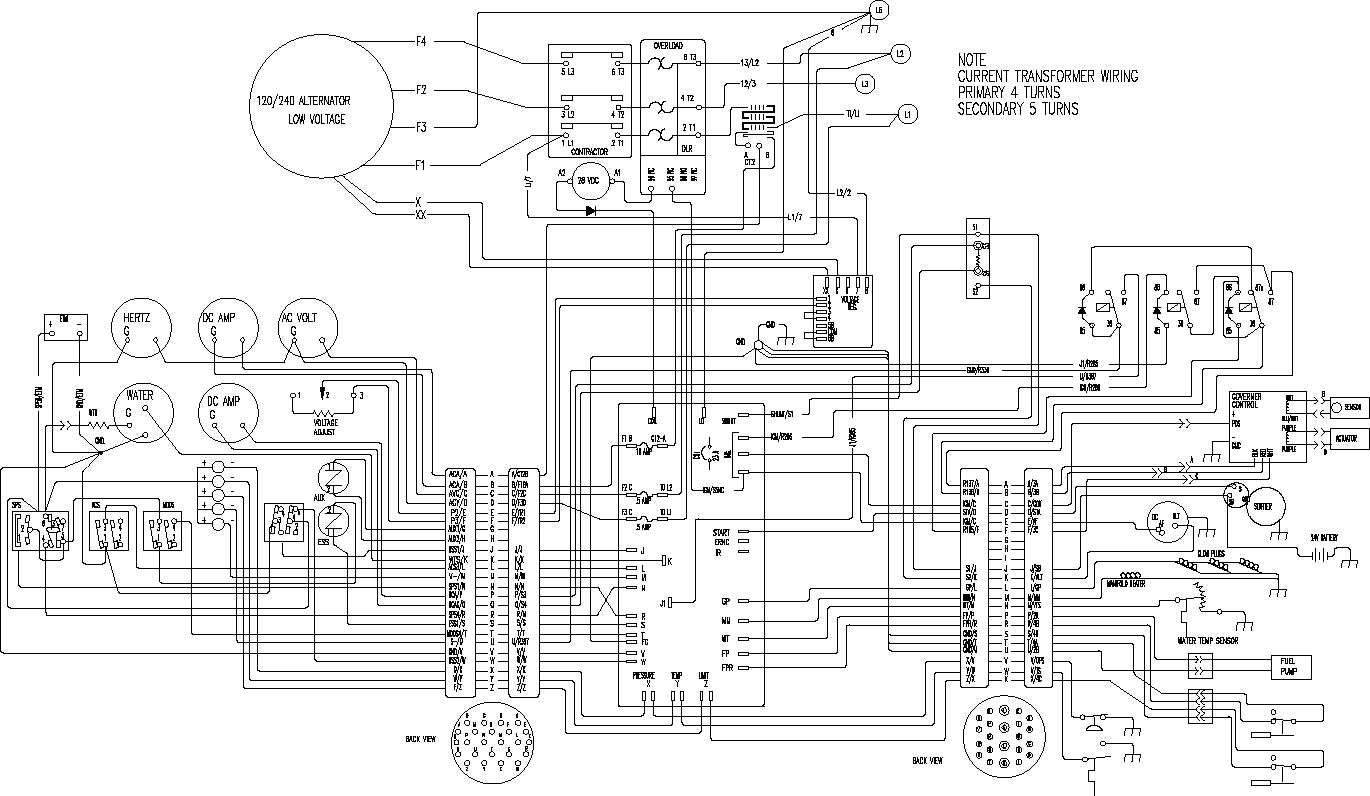 Diagram Automatic Changeover Switch For Generator Circuit And Wiring - Generator Automatic Transfer Switch Wiring Diagram