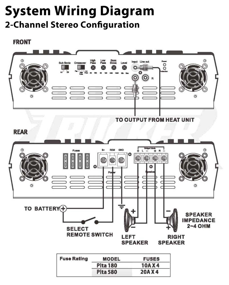 4 Channel Amp Wiring Diagram