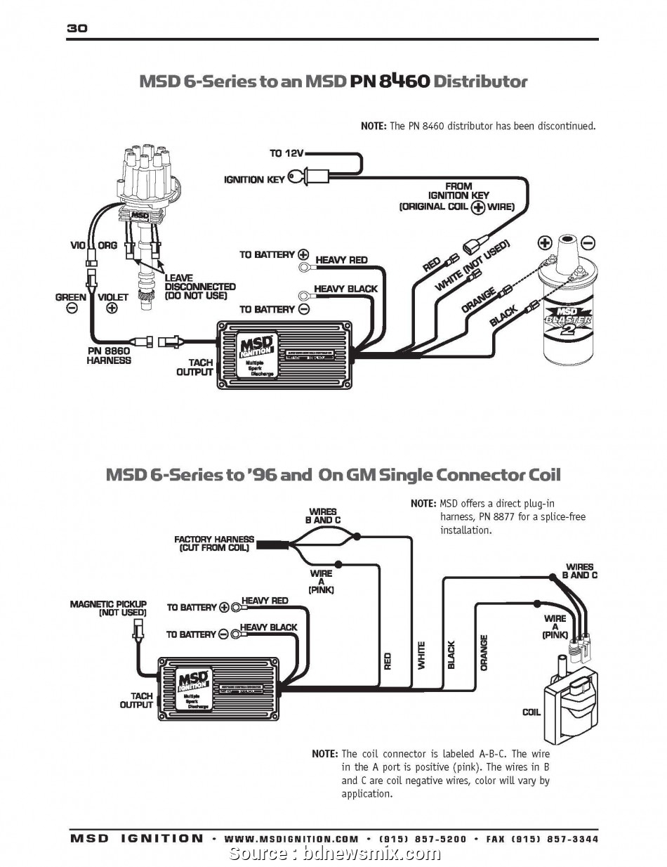 Digital 6 Wiring Diagram With Hei | Manual E-Books - Msd Digital 6Al Wiring Diagram
