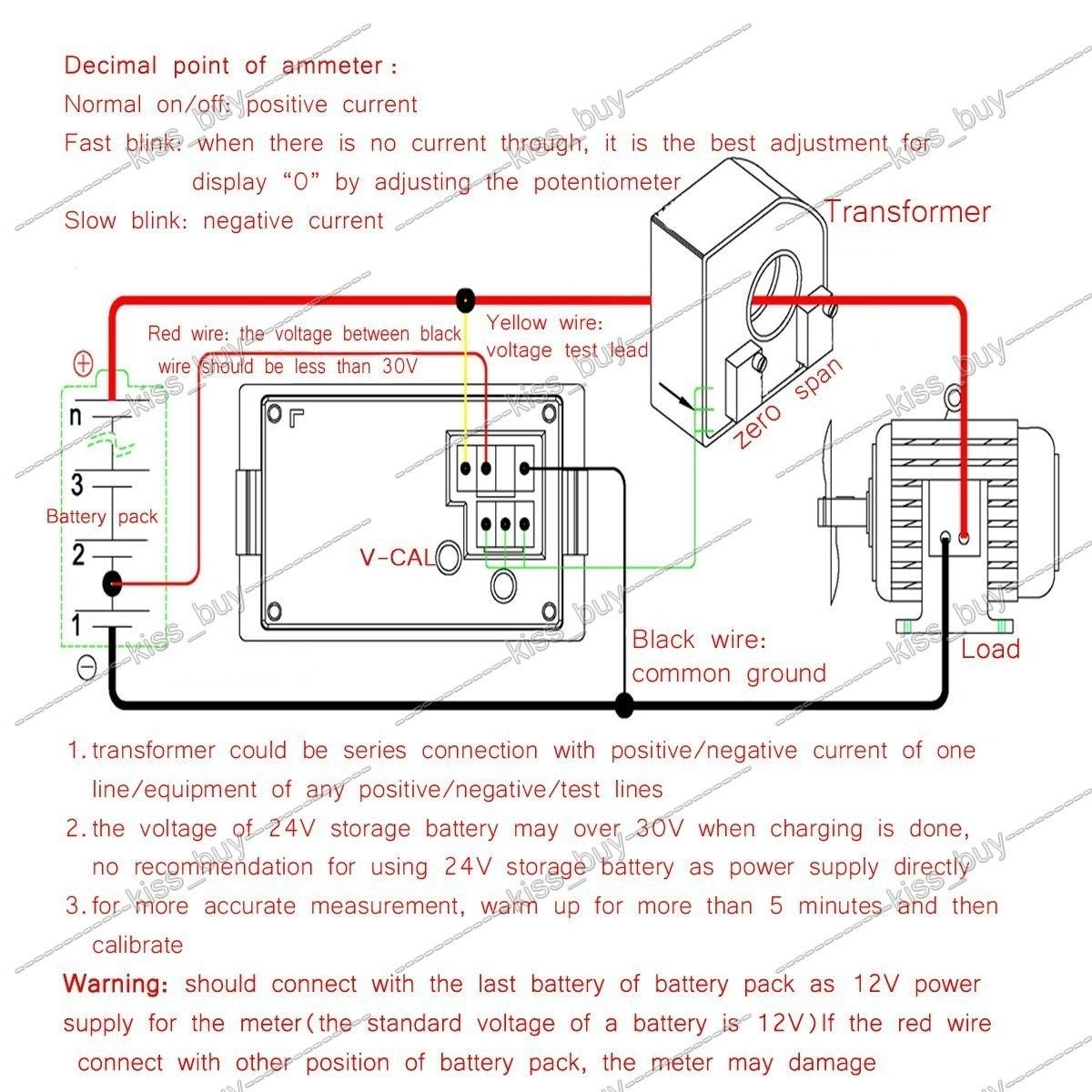 Digital Volt Amp Meter Wiring Diagram | Manual E-Books - Digital Volt Amp Meter Wiring Diagram