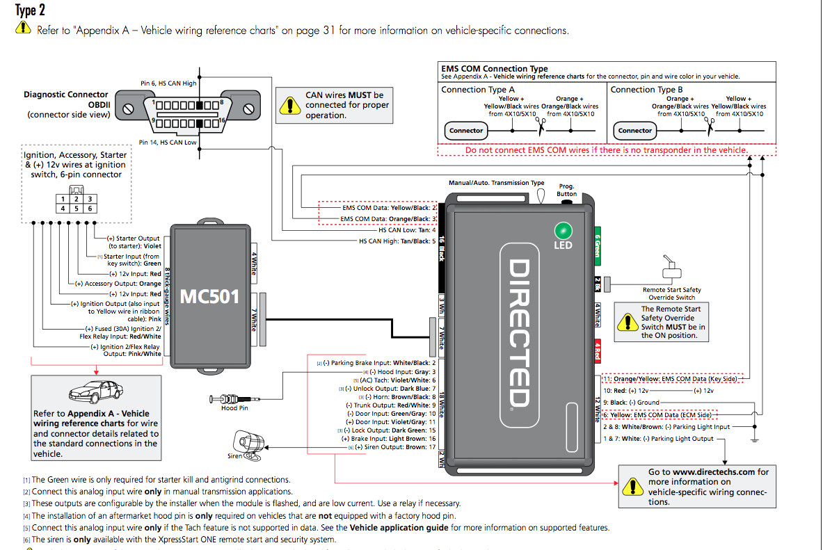 Directed Remote Start Wiring Diagram Dei Dball2 Install Using Oem In - Dball2 Wiring Diagram