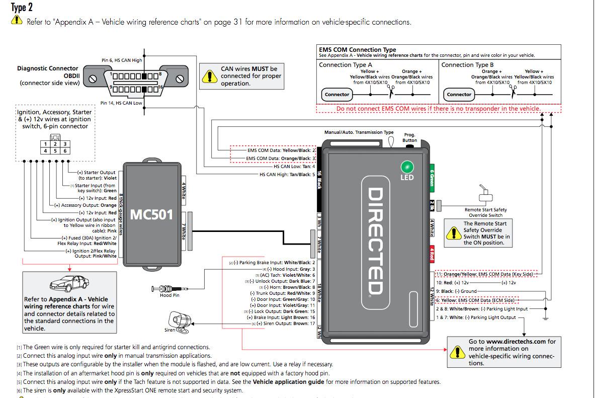 Directed Remote Start Wiring Diagram Dei Dball2 Install Using Oem In - Dball2 Wiring Diagram