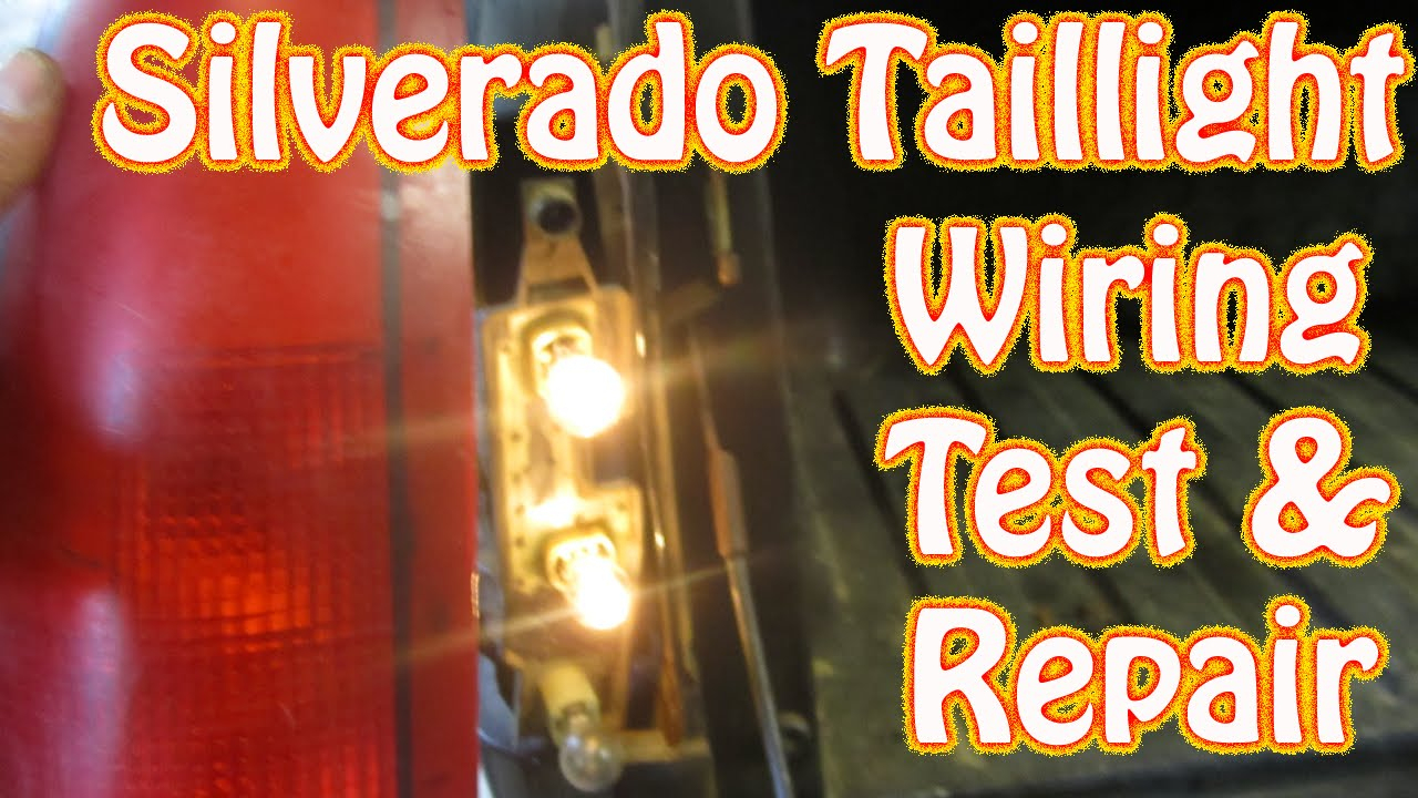 Diy Chevy Silverado Gmc Sierra Taillight Repair How To Test And - Brake Light Wiring Diagram Chevy