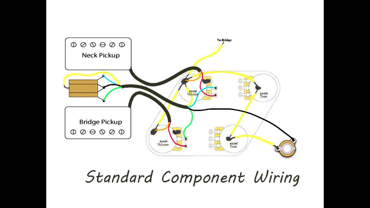 Diy Les Paul Wiring - Vintage Versus Modern - Youtube - Gibson Les Paul Wiring Diagram