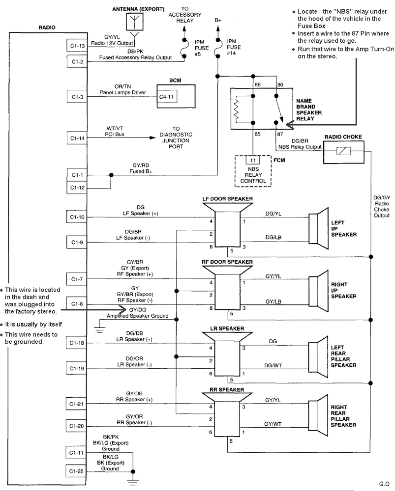 Stereo Wiring Diagram For 2003 Gmc Yukon