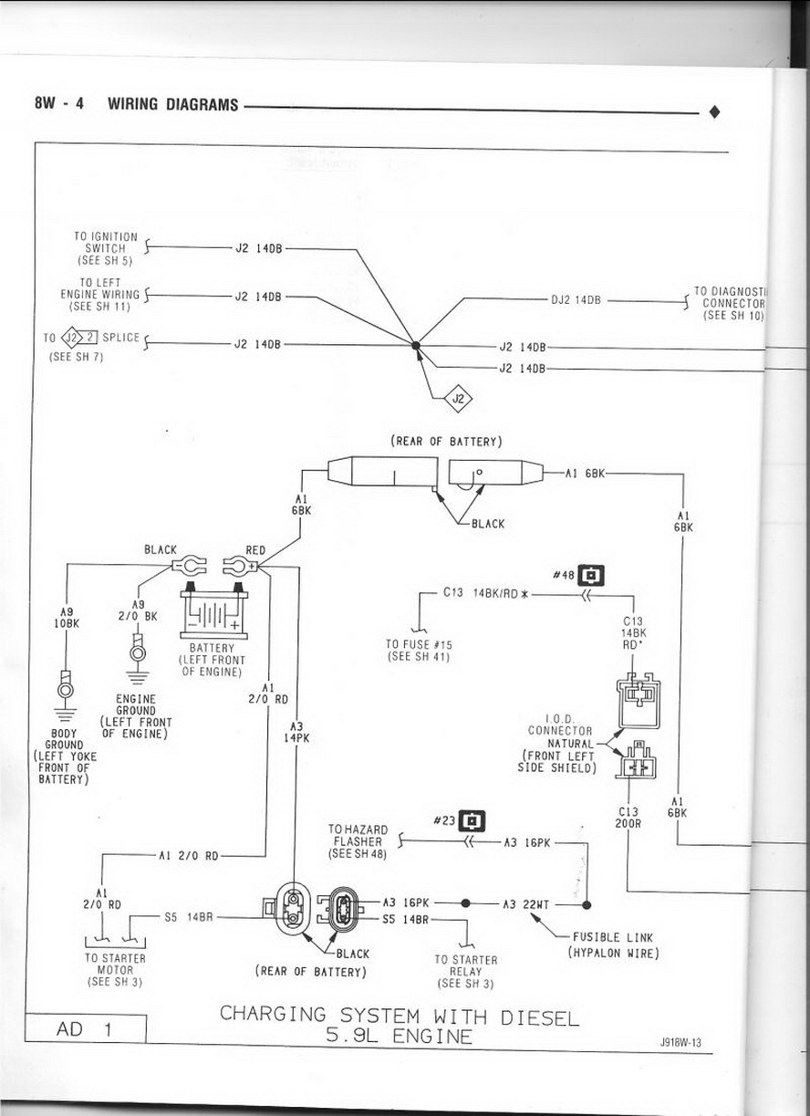 Dodge Cummins Alternator Wiring Diagram Picture | Otomobilestan - Dodge Alternator Wiring Diagram