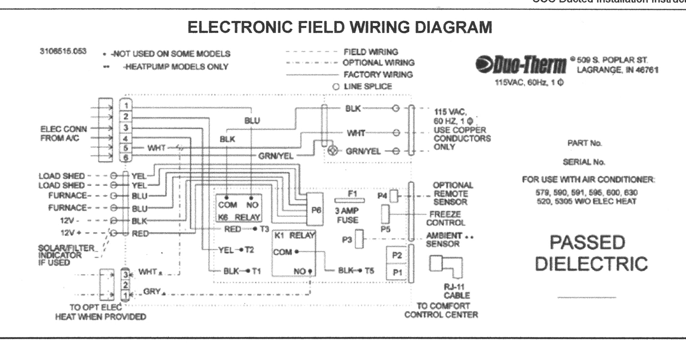 Dometic Analog Thermostat Wiring Diagram | Wiring Diagram - Dometic Thermostat Wiring Diagram