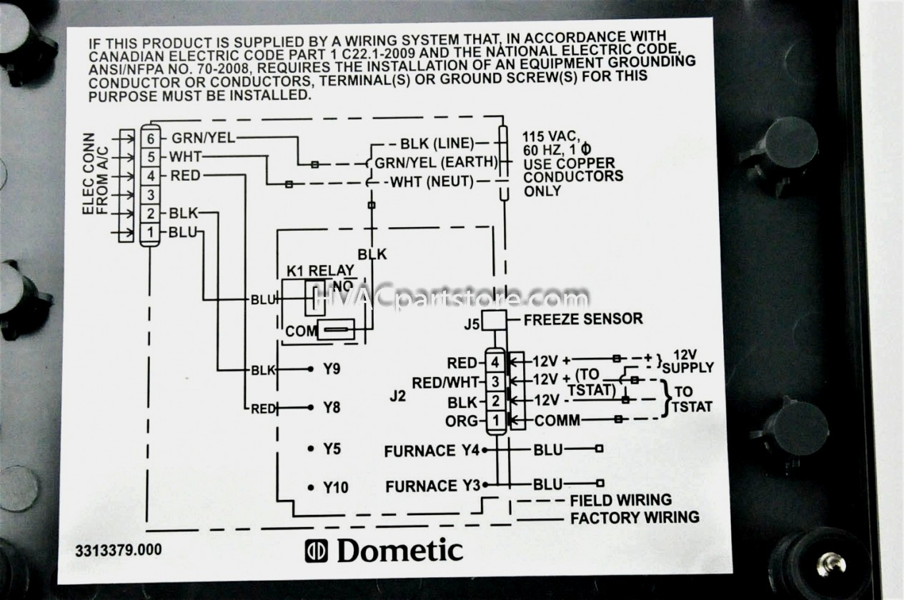 Dometic Thermostat Wiring Diagram 7 Wire