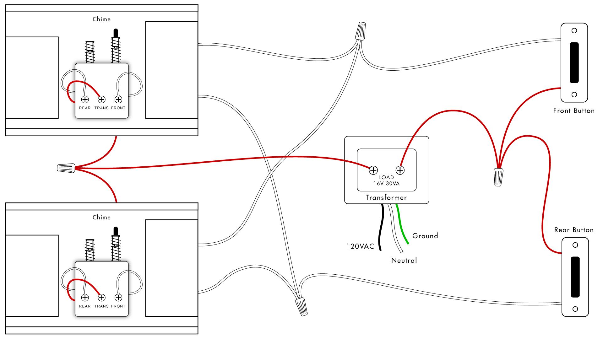Doorbell Wiring Diagrams | Diy House Help - Doorbell Wiring Diagram Two Chimes