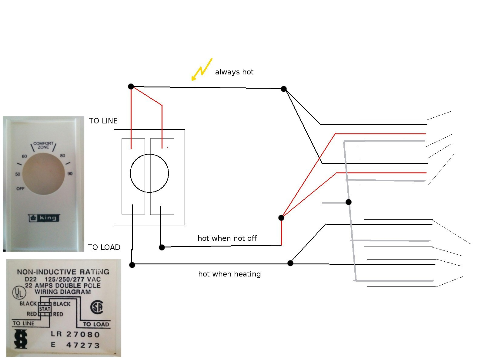 Double Pole Thermostat Wiring Diagram Baseboard Heater 6 Best - Double Pole Thermostat Wiring Diagram