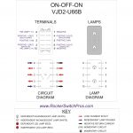 Dpdt Rocker Switch | On Off On | 2 Ind Lamps   Carling Rocker Switch Wiring Diagram